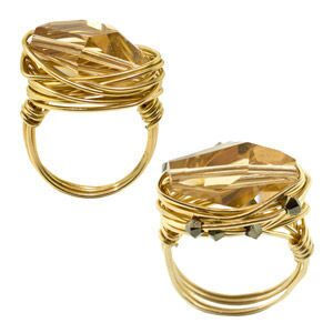 Как сделать кольцо с камнем из проволоки своими руками