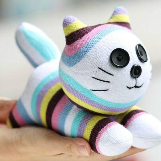 Котик из носка своими руками мастер класс