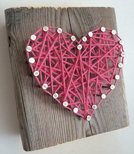 Сердечки день, открытка сердечко из ниток